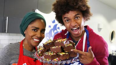 Blue Peter - Rainbow fudge by Nadiya Hussain