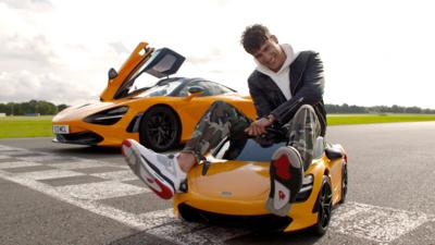 Blue Peter - Richie drives a tiny supercar!