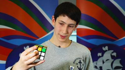 Blue Peter - Speedcube solved three ways