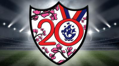 The 2020 Blue peter Sport badge.