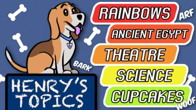 Topics: Rainbows, Theatre, Ancient Egypt, Science, and Cupcakes