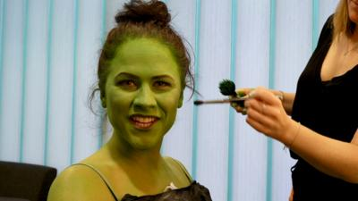 Blue Peter - Wicked's Elphaba transformation