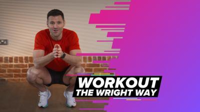 Mark Wright crouching in sport kit