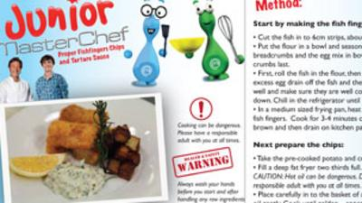 Junior MasterChef - Fishfingers Recipe