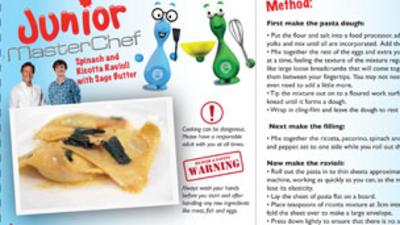 Junior MasterChef - Spinach Ravioli Recipe