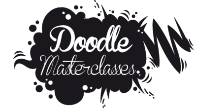 'Doodle Masterclasses' in a black speech bubble.
