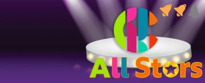 CBBC All Stars Puzzles, with a CBBC logo on a stage, showing two bell notifications.