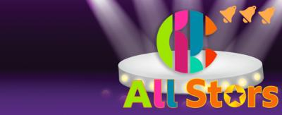 CBBC All Stars Puzzles, with a CBBC logo on a stage, showing three bell notifications.