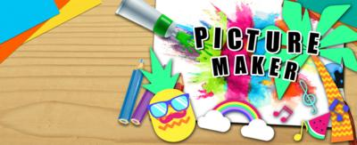 The CBBC Picture Maker with pineapple, palm tree and rainbow summer stickers.