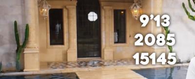 Numbers in front of a door.