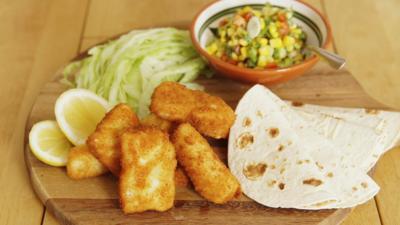 CBBC Dish Up - Fish Tacos with Sweetcorn Salsa