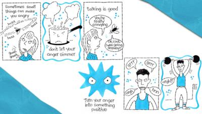 A comic strip about feeling angry