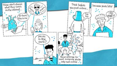Comic strip about staying safe online