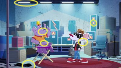 A spot the differene puzzle featuring Danger Mouse.