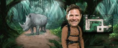 Steve with a Rhino