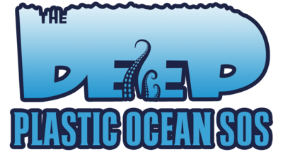 Text reading 'The Deep Plastic Ocean SOS'.