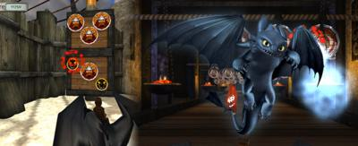 Toothless in the Fireball Frenzy game