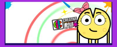 """An illustration of a wheel of cheese wearing a pink bow, smiling to camera. Next to it is the words """"How to draw Cheese from Boy Girl Dog Cat Mouse Cheese on the CBBC Creative Lab""""."""