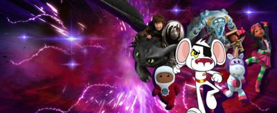 A view of earth from space with the word HEROES appearing in front of lots of CBBC  and CBeebies characters.