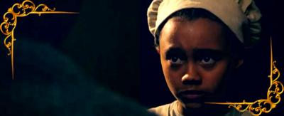 A victorian girl looking worried. From CBBC series Hetty Feather.