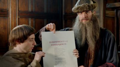 Horrible Histories - Gutenberg's amazing moveable type