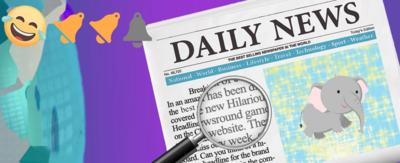 The latest game in Newsround Hilarious Headlines features a baby elephant.