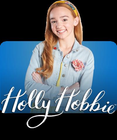 Holly Hobbie and the Holly Hobbie logo.