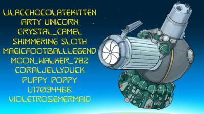 Space ship with usernames.