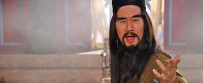 Horrible Histories cast member dressed as Qin Shi Huang.