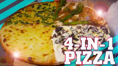 How To Be Epic @ Everything - How to make a delicious 4-in-1 pizza