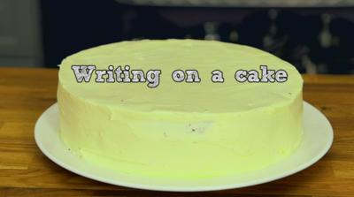 CBBC Dish Up - How to write on a cake
