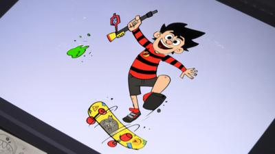 Dennis and Gnasher Unleashed - How to draw Dennis