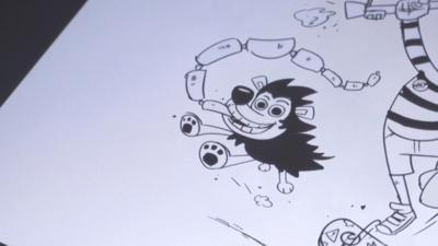 Dennis and Gnasher Unleashed - How to draw Gnasher