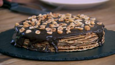 Junior Bake Off - Recipe: Hazelnut and Dark Chocolate Pancake Cake