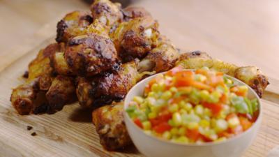 CBBC Dish Up - Joe Swash Makes Chicken Drumsticks