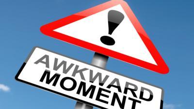 awkward moment sign