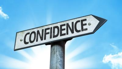 confidence sign post
