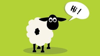 vector sheep saying hi