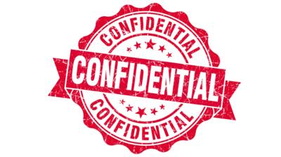 Vector graphic confidential