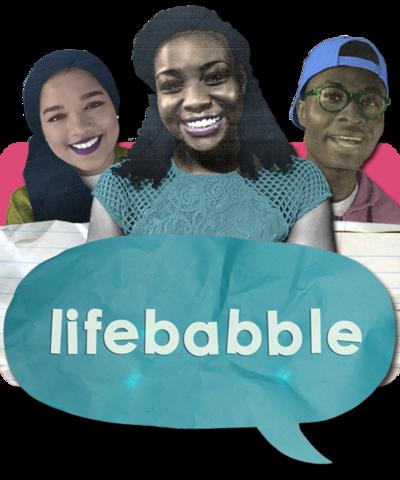 Scola, Saima, Eman and a Lifebabble speech bubble