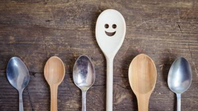 Spoons with happy face