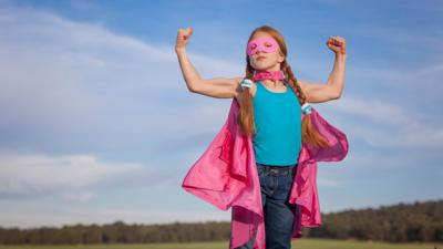 Pink superhero girl