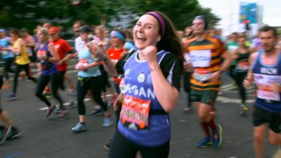 Matilda and the Ramsay Bunch - The Ramsays cheer on Marathon Meg