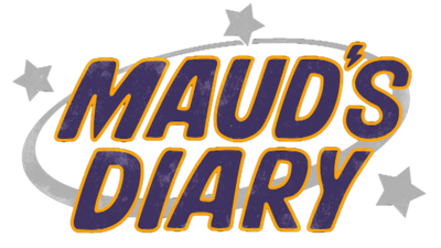 Purple text reading 'Maud's Diary'.