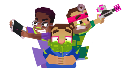 Cartoon versions of Dr Ronx, Dr Chris and Dr Xand. Dr Rons is pulling an angry face and is holding a tablet device. Dr Chris has green snot coming from his nose and looks ill. Dr Chris is holding a snot blaster, ready to help clear Dr Chris's snot.