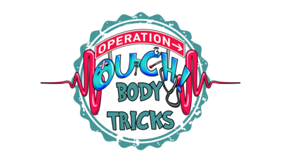 Text reads operation ouch body tricks.