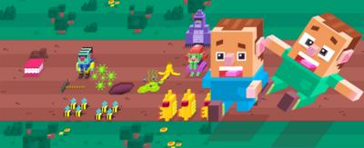 8-bit cartoon characters from the Snot Apocalypse app.