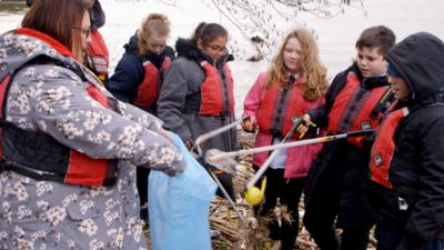 Our School - Students take on a litter picking challenge