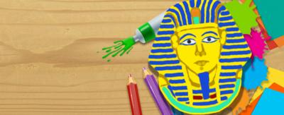 The mask of King Tut, drawn using the Picture Maker.