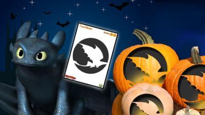 Dragons - Defenders of Berk - Pumpkin Template - Toothless